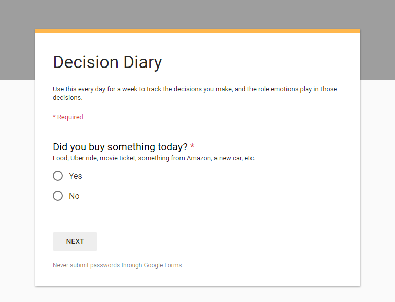 Click to create your diary.